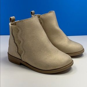 Crazy 8 toddler dress boots tan and gold